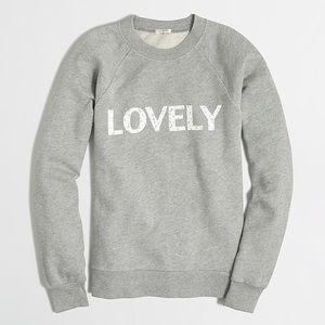 """Jcrew Factory """"Lovely"""" Grey Sweatshirt Size XS"""
